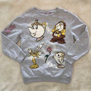 EUC Disney Beauty and the Beast Sweatshirt KIDS